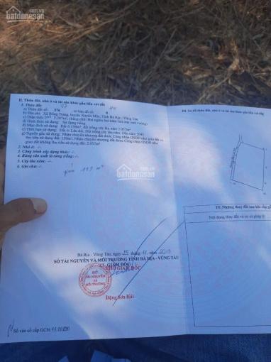Ngộp cọc cần bán lô đất tại Bông Trang, Xuyên Mộc, 2,2 sào, mặt tiền 57m vuông vức, cách QL 300m ảnh 0