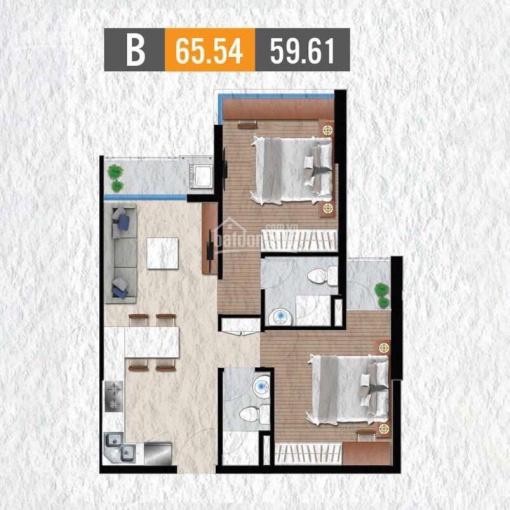 Chính chủ cần tiền bán gấp CH 65m2 2PN 2VS giá tốt nhất dự án cuối năm 2021 nhận nhà. 0907174838 ảnh 0