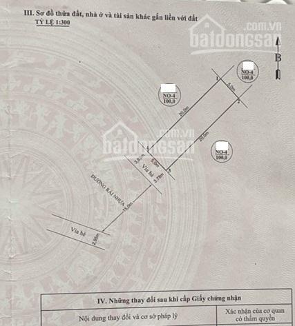 Bán lô 100m2 phân lô sau quận ủy Hồng Bàng, view vườn hoa, đường 25m, 0962444593 Mặt tiền 5m ảnh 0