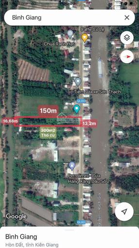 Bán đất mặt tiền Q. Lộ 80 xã Bình Giang Hòn Đất Kiên Giang, DT 2.200m2 giá 1.5tỷ sổ đỏ - 0931973059 ảnh 0