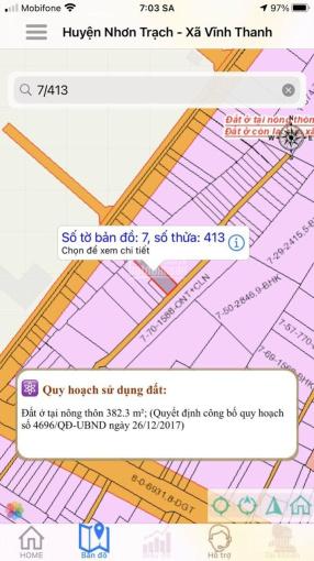 Bán đất Hùng Vương, Vĩnh Thanh, Nhơn Trạch, Đồng Nai, diện tích 382m2, giá đầu tư tốt ảnh 0