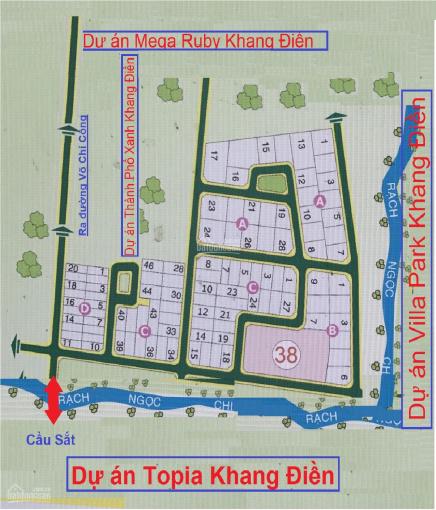 Bán đất dự án, khu Dòng Sông Xanh, Quận 9, sổ đỏ chính chủ ảnh 0