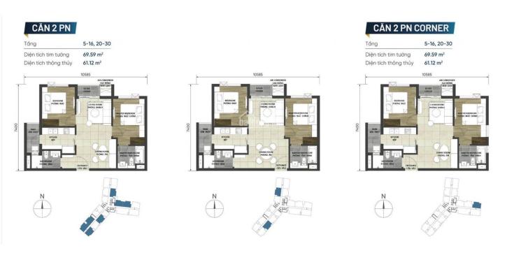 Bán căn hộ cao cấp 2PN dự án D-Homme trung tâm Quận 6 ảnh 0