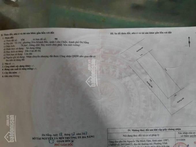 Bán đất 80m2 3 mặt kiệt Nguyễn Lương Bằng, Hòa Khánh Bắc, Liên Chiểu, Đà Nẵng ảnh 0