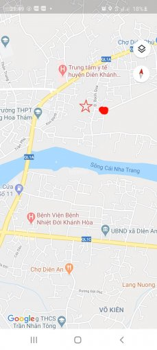 Bán 209m2 100% đất ở, ngang 10m Đ.Bạch Qua thôn 4 Diên Phú, H.Diên Khánh, Khánh Hòa, tặng kho 85m2