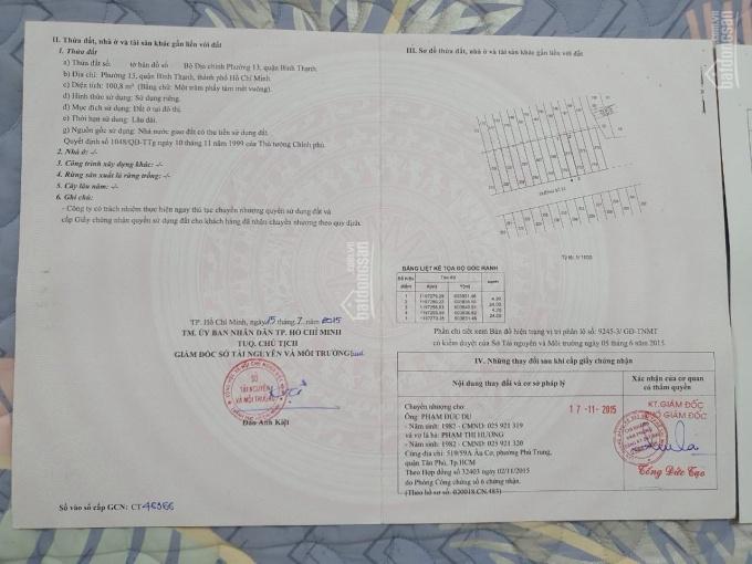 Bán đất KDC Bình Lợi, 4.2x24m 108m2, đường nhựa 10m thông thoáng ảnh 0