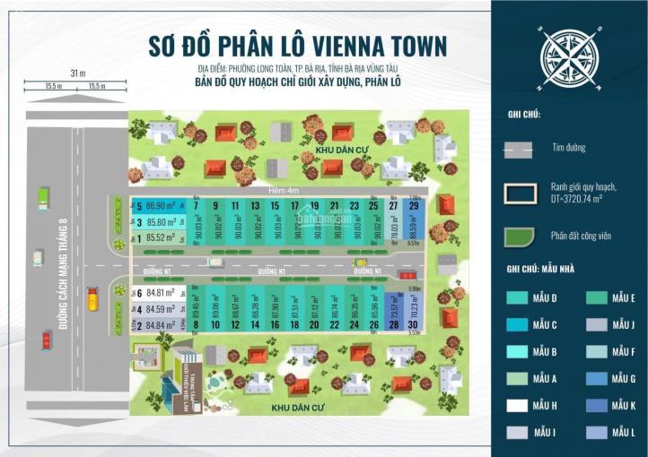 Nhận giữ chỗ 30 căn 1 trệt 2 lầu ngay dự án Vienna Town mặt tiền CMT8, TP. Bà Rịa ảnh 0