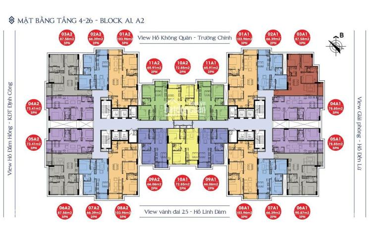 Chính chủ bán CHCC 176 Định Công 1902B1 (92m2) & 1503B2 (64,7m2), giá 27 tr/m2. LH 0389193082 ảnh 0