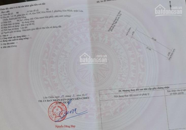 Chính chủ bán đất MT Trần Đình Tri: DT 94.5m2, giá 4.95 tỷ, LH 0987901827 ảnh 0