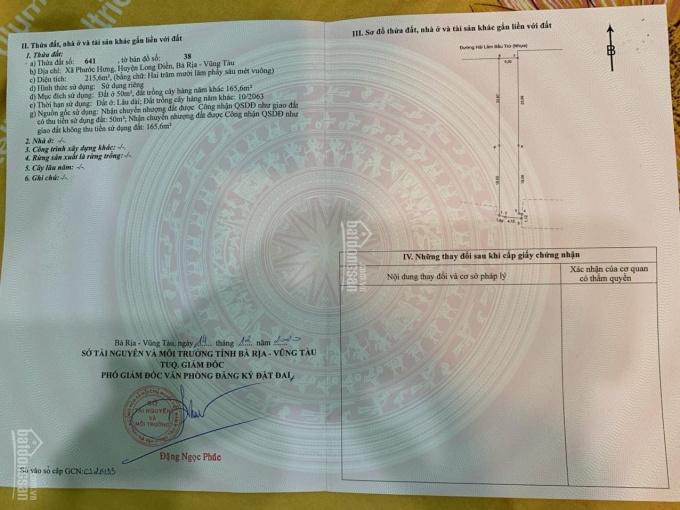 Chính chủ cần bán gấp lô đất mặt đường Hải Lâm Bầu Trứ H. Long Điền - VT LH. Hiền 0966 823 368 ảnh 0