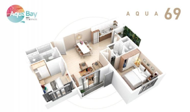Cần/muốn cho thuê căn hộ 69m2, nội thất cơ bản giá 6,5 tr/th Aquabay Ecopark ảnh 0