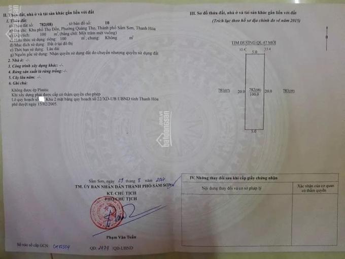 Đất sổ đỏ, giá đầu tư Khu vực TP Thanh Hoá, Quảng Xương, Sầm Sơn, Triệu Sơn. Liên hệ: 0983 923 087 ảnh 0