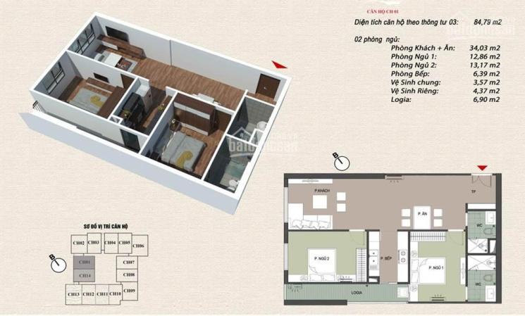 Chính chủ bán nhà chung cư Viễn Đông Star, căn 2PN - 85m2, căn góc 3PN - 101m2 (25tr/m2) ảnh 0