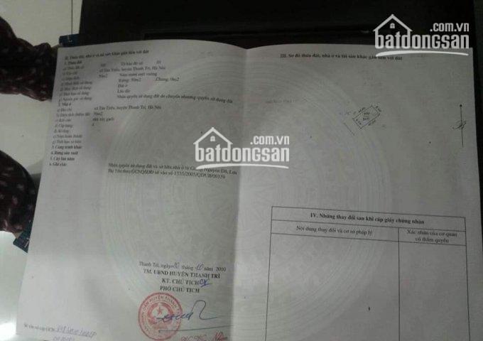 Chính chủ bán lô đất duy nhất cạnh hồ Triều Khúc giá 68tr/m2, dt 37m2, LH 0963427969 ảnh 0