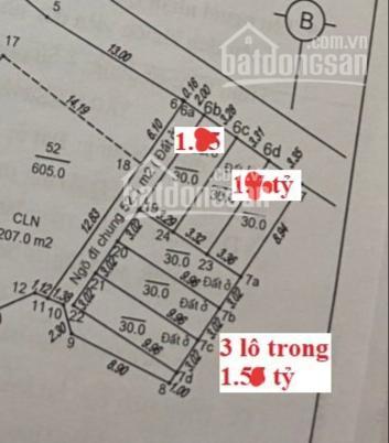 Bán 6 lô đất thổ cư sổ đỏ - phố Hữu Lê - Hữu Hòa, DT 30 - 38m2, ngay ngõ, đủ hướng, giá 1.5x tỷ ảnh 0