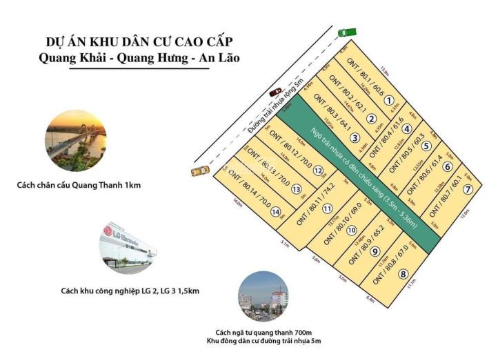 Chính chủ em bán 14 lô đất đã có bìa tại Quang Khải, Quang Hưng, An Lão ảnh 0