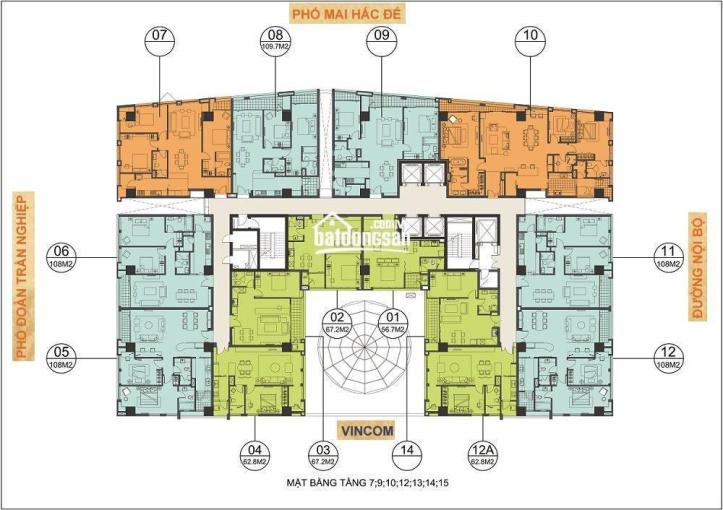 Cần bán CHCC Hoàng Thành, DT 76m2 giá 6,8 tỷ và 56m2 giá 4,8 tỷ ảnh 0