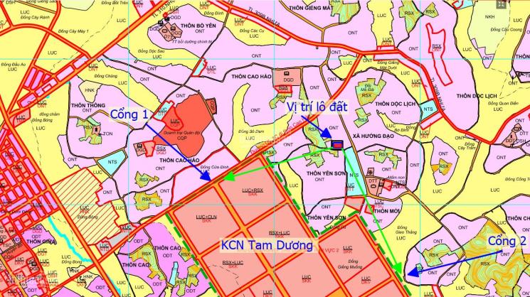 380 - 580tr/lô đất nền đầu tư cạnh KCN Tam Dương 1 Vĩnh Phúc. Liên hệ 0943531102 ảnh 0