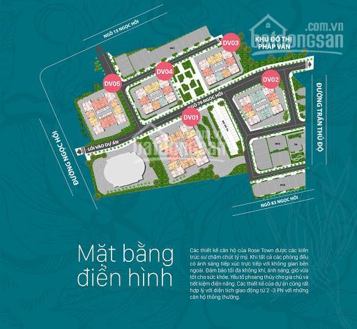 Mở bán sàn thương mại dự án Rose Town tòa DV02 cư dân đã về ở ảnh 0