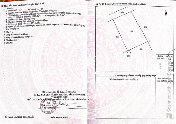 Đất nhà vườn Phước Khánh, xe hơi tới đất, chỉ 1,3 triệu/m2, sổ hồng riêng ảnh 0