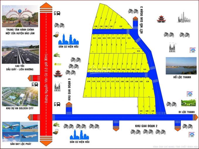 Chính chủ bán đất thổ cư phường Lộc Phát - Bảo Lộc 100m2 thổ cư, giá 880 tr. LH 0916273456 ảnh 0