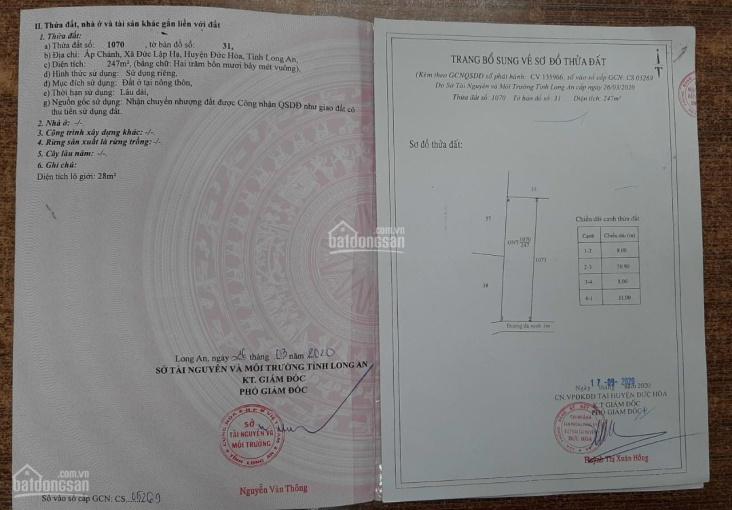 Nợ cần bán đất MT Bàu Sen 8mx31, ngay chợ, công ty, SHR ảnh 0