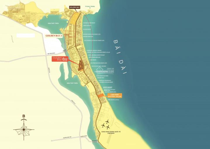 Bán nền khách sạn suất ngoại giao dự án Golden Bay 602 Bãi Dài, mặt đường Nguyễn Tất Thành ảnh 0