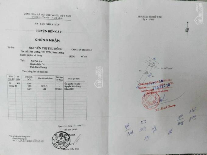 Mặt tiền kinh doanh ĐT 744, Phú An DT 12*86m, giá 12.8 tỷ ảnh 0