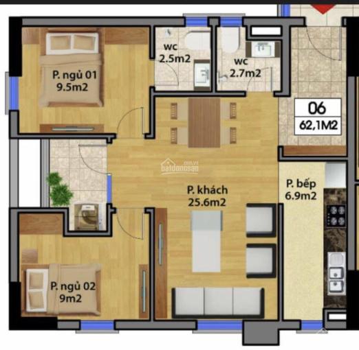 Hot! Cần bán căn hộ góc đẹp tòa Bắc Rice City - 62.5m2 - sổ CC - view thoáng - 1.64 tỷ ảnh 0