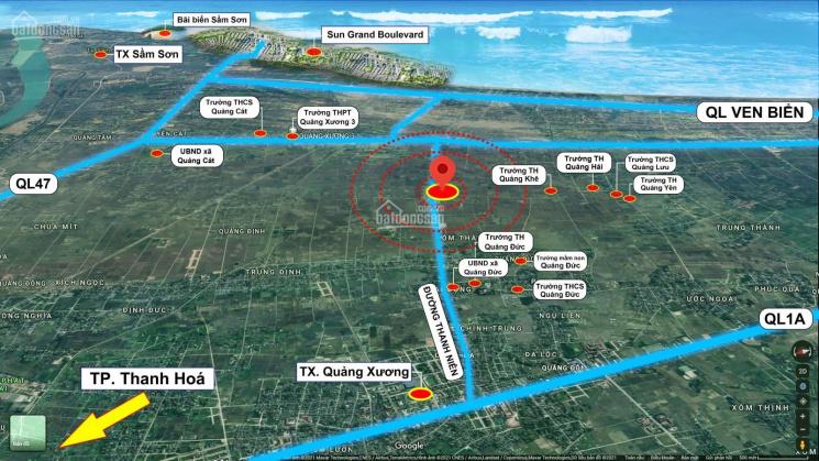 Đất đấu giá cách Sầm Sơn 4 km, chỉ nhỉnh 9 triệu/m2, 125 m2, Tân Phong, Quảng Xương ảnh 0