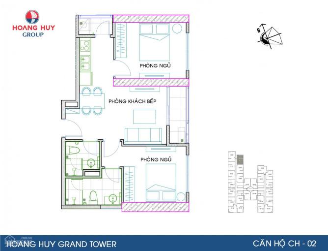 Bán căn góc 02 tầng 21, Hoàng Huy Grand, có phí MG ảnh 0