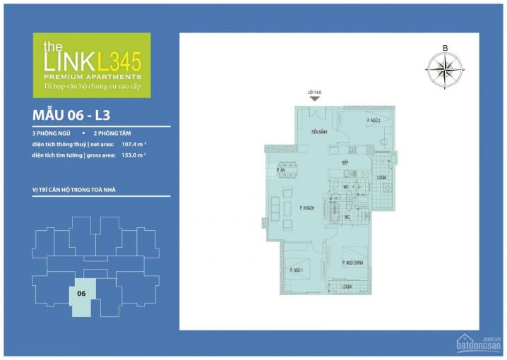 Dự án The Link 345 Ciputra KM tới 15%, căn hộ 3PN giá chỉ từ 4,3 tỷ. NH hỗ trợ LS 0% tới 24 tháng ảnh 0