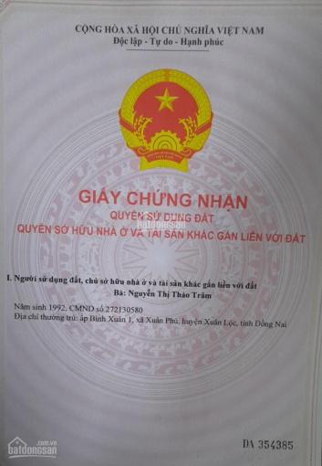 Đất sào 1600m2, giá 440 triệu tại Xuân Trường, Xuân Lộc, Đồng Nai ảnh 0