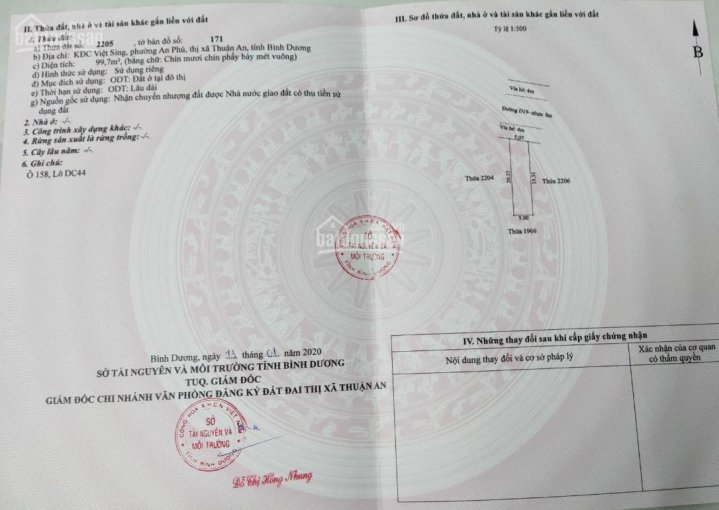 Em trai cần tiền bán lô đất tại khu dân cư Việt Sing An Phú, Thành phố Thuận An, Bình Dương ảnh 0