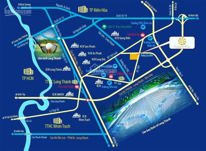 Bán đất sổ đỏ dự án Century Long Thành, đón đầu Sân Bay Quốc Tế Long Thành, chỉ 630 triệu/ TT 30% ảnh 0
