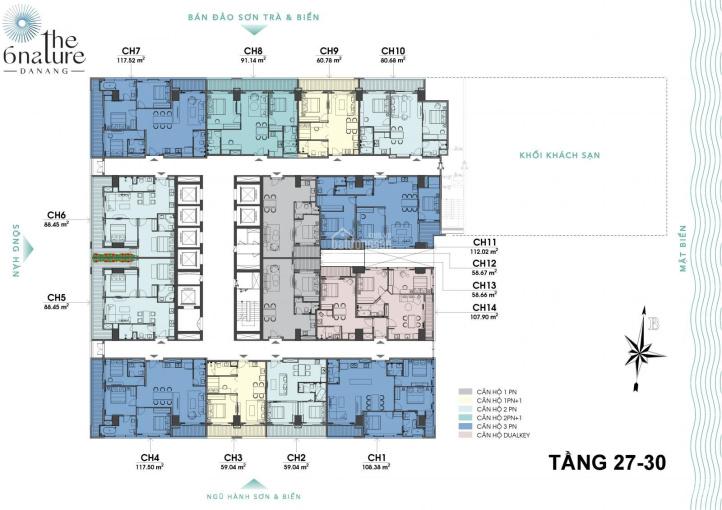 Bán căn duakey 3 phòng ngủ duy nhất tại dự án The 6 Nature Đà Nẵng, giá tốt nhất thị trường ảnh 0
