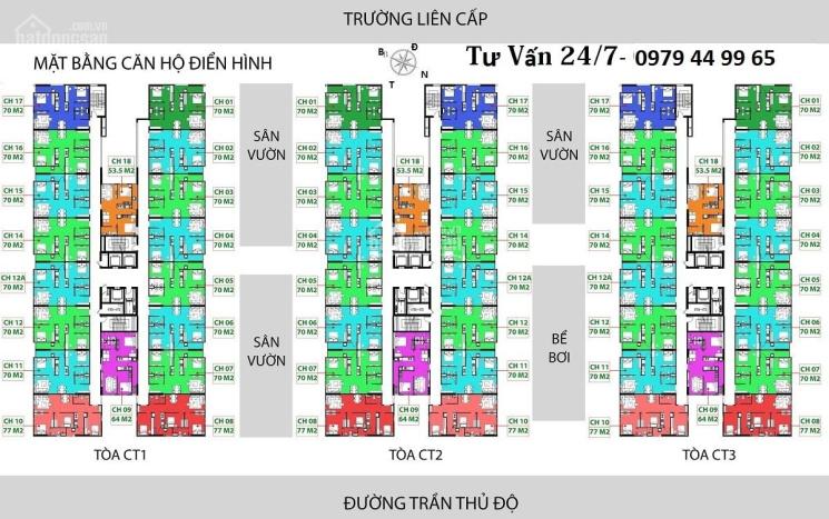Bán căn hộ chung cư IEC Tứ Hiệp, Thanh Trì. Căn 15 CT2 DT 70m2, giá bán 1 tỷ 380/CH. LH 0979449965 ảnh 0