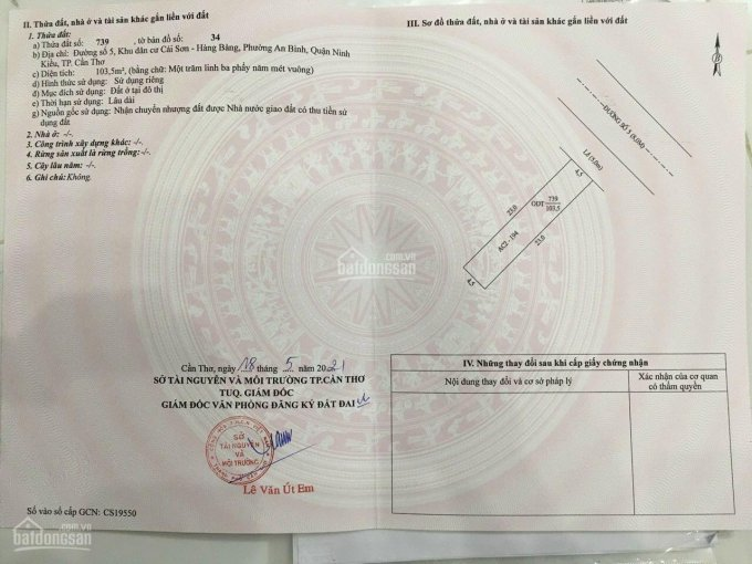 Bán nền đường Số 5 KDC Hồng Phát A, P. An Bình, Q. Ninh Kiều, TP Cần Thơ ảnh 0
