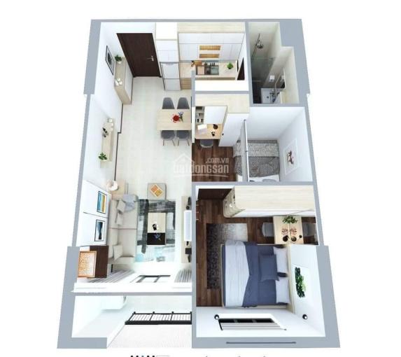Gấp, bán căn hộ 50m2 HH2 Xuân Mai Complex Dương Nội giá 1 tỷ 050. LH 0911483602 ảnh 0