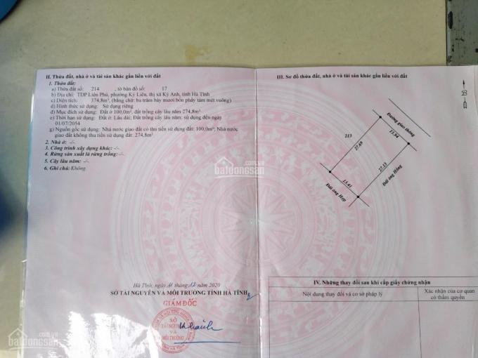 Bán nhà tại Kỳ Liên - Kỳ Anh - Hà Tĩnh, DT 347m2, SĐCC, vị trí đẹp, LH 0941310779 ảnh 0