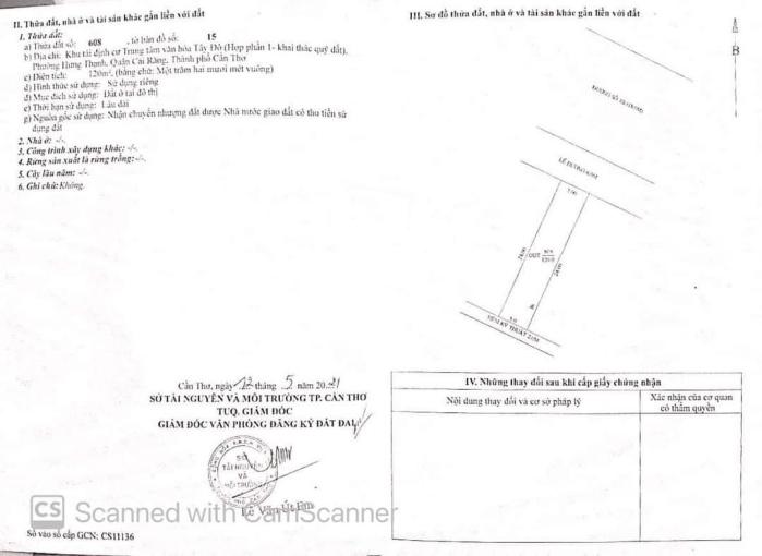 Bán nền đường 1B KDC Văn Hóa Tây Đô - kế chợ & Quốc Lộ 1A ảnh 0