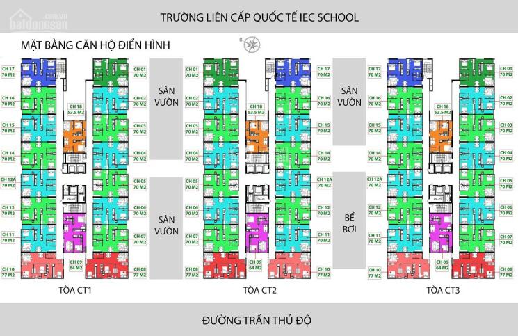 0963777502 bán căn chung cư IEC Thanh Trì tòa CT1 căn 1206 rộng 70m2, view đông nam. Giá: 1 tỷ 350 ảnh 0