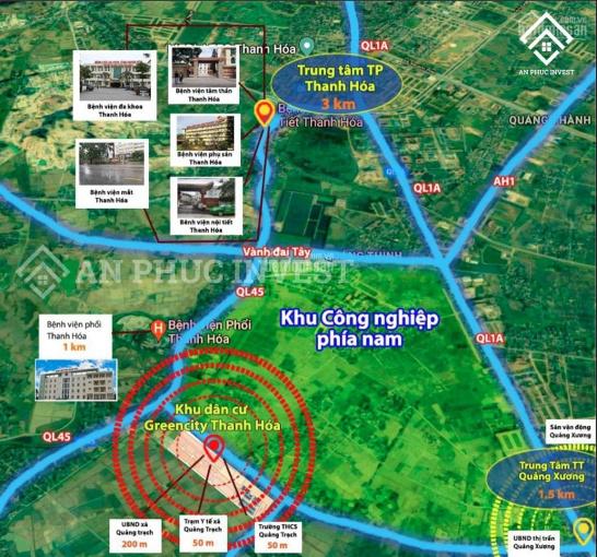 Chính chủ bán lô đầu ve KDC Green City cạnh trường cấp 2 xã Quảng Trạch, Quảng Xương, Thanh Hoá ảnh 0