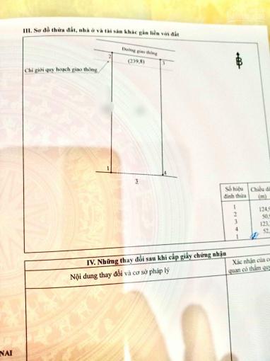 Chính chủ gửi bán 6400m2 tại Đông Hoà, Trảng Bom, đất vuông vắn giá đầu tư ảnh 0