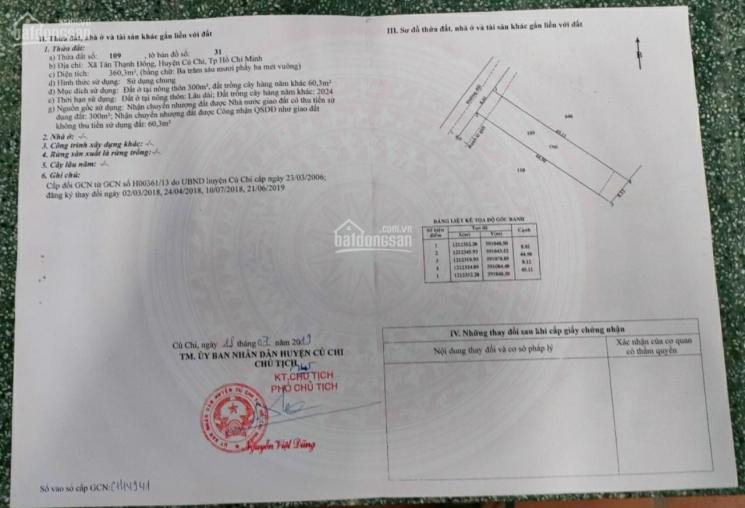 Bán đất mặt tiền đường 301, Tân Thạnh Đông ảnh 0