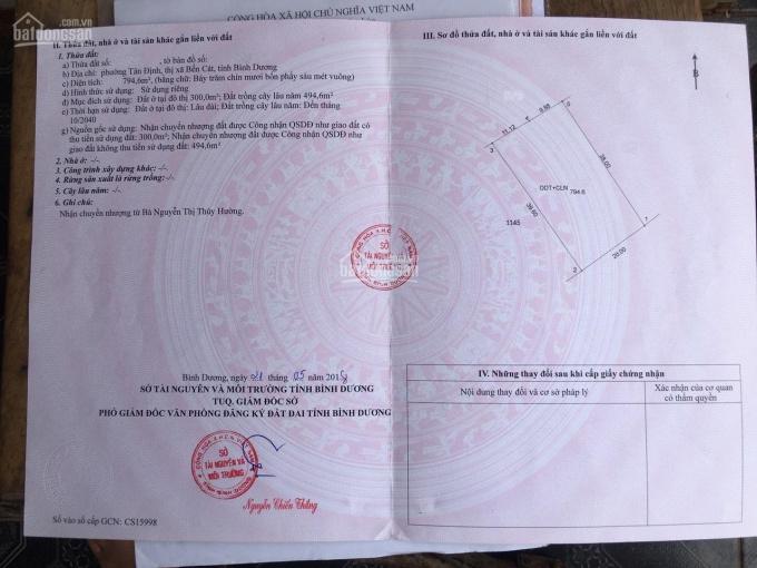 Chính chủ bán lô đất MT QL13, Tân Định, Bến Cát, Bình Dương. LH: 0915.55.66.72 ảnh 0