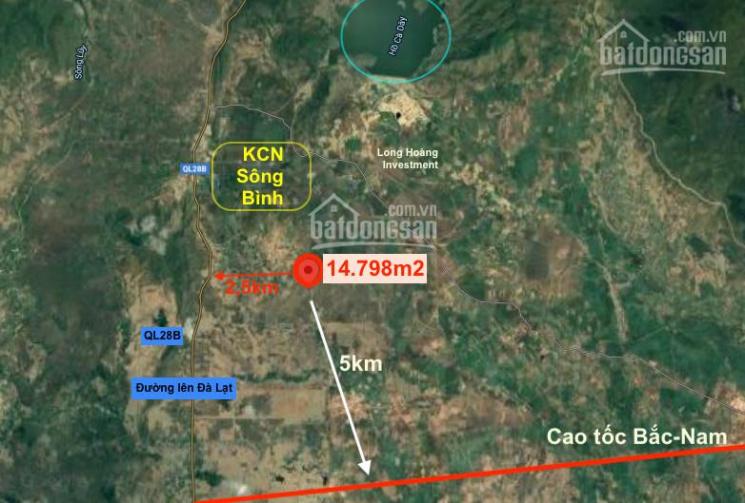 70.000/m2 xã Sông Bình - Bắc Bình, view Suối ảnh 0