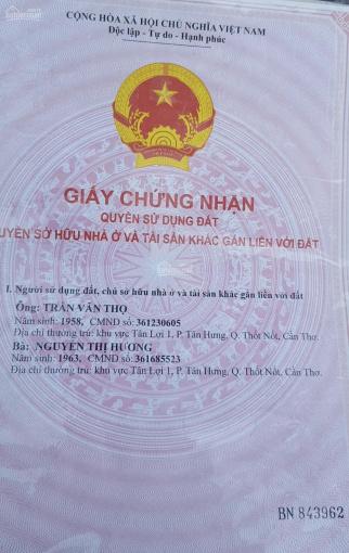 Chính chủ cần bán đất ruộng phường Tân Hưng, quận Thốt Nốt, TP Cần Thơ ảnh 0