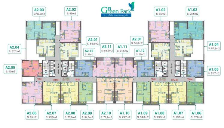 Chính chủ bán căn CC Green Park Phương Đông, DT: 56.8m2, giá: 1,58 tỷ, LH: 0904516638 ảnh 0
