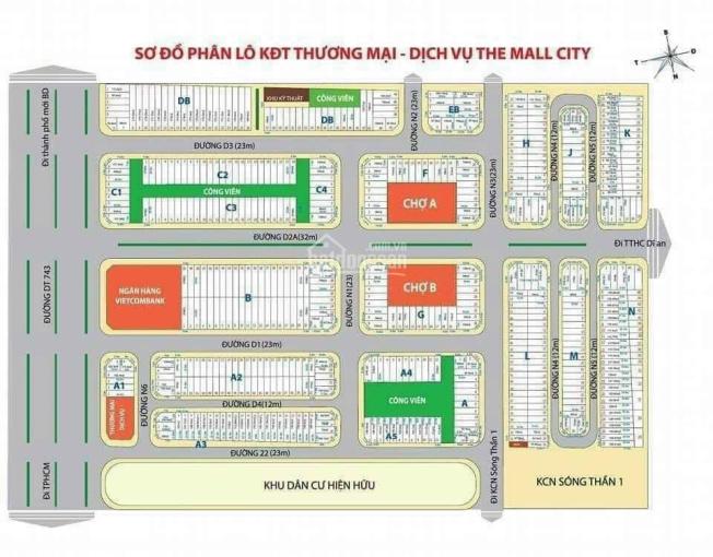 Bán đất trục chính khu thương mại Sóng Thần, khu B sát bên Vietcombank ảnh 0